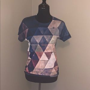 American Apparel colorful shapes sublimation tee